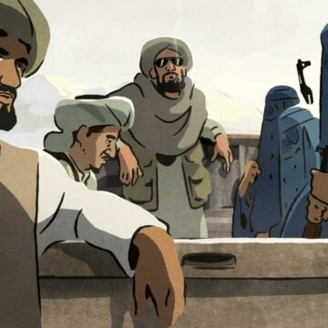 studenti di Kabul vestiti tutti uguali